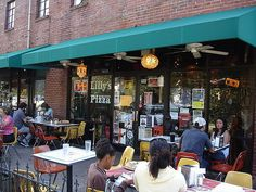Lilly's  Pizza in Historic Five Points Neighborhood of Raleigh, NC.