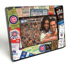 Chicago Cubs Ticket Collage Wooden 4x6 inch Picture Frame - Officially Licensed by MLB by ThatsMyTicket on Etsy https://www.etsy.com/listing/271309962/chicago-cubs-ticket-collage-wooden-4x6