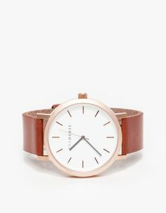 Brushed Rose Gold/Walnut Watch