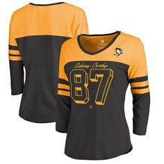 eef5a721ab9 Sidney Crosby Pittsburgh Penguins Fanatics Branded Women's Big Shot 3/4  Sleeve Raglan T-Shirt – Black/Gold