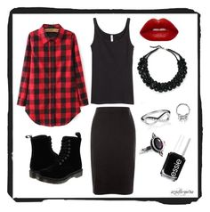 azielle-nova [9] by azielle-nova on Polyvore featuring polyvore fashion style H&M New Look Dr. Martens BlackMoon Essie clothing