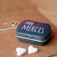 """Mini boite de bonbons """"1000 mercis"""""""
