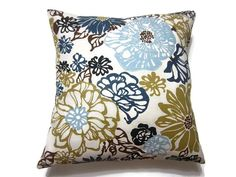 Decorative Pillow Cover Navy Blue Baby Blue by LynnesThisandThat