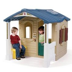 Step2 Naturally Playful Front Porch Playhouse by Step2. $319.98. Interior details include a pass-through window, molded-in sink with swivel faucet, and stove top with clicking knob. Features working Dutch door and side window with shutters. Front porch is perfect for both shade on sunny days and cover on rainy days. Decorative peaked roof has a skylight for a brighter interior. From the Manufacturer                The Step2 Naturally Playful Front Porch Playhouse is perfect for e...
