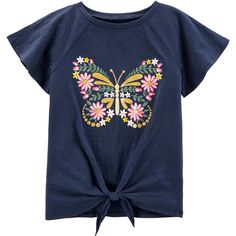 Paired with a pair of jeans, this girls' Carter's graphic tee becomes a sweet everyday outfit. Kids Girls Tops, Girls 4, Toddler Outfits, Kids Outfits, Carter Kids, Everyday Outfits, Printed Shirts, Long Sleeve Tops, Kids Fashion