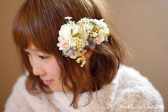 シュガーピンクダリア野の花 花冠(2パーツ) | Online store – ミルラシュエット