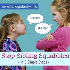 Stop Sibling Squabbles