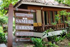 Samed Cabana Resort - Beachfront Resort on Koh Samed (Official Website) Cabana, Thailand, Outdoor Structures, Restaurant, Beach, Plants, Website, Image, The Beach