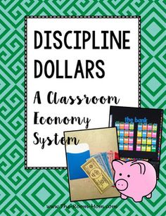 Discipline Dollars, a Classroom Management System, students earn money each week for positive behavior and can lose money for negative behaviors. The goal is to save money to be able to participate in class rewards, financial literacy, works for grades Classroom Economy, Classroom Discipline, Classroom Management, 3rd Grade Classroom, A Classroom, Lost Money, Earn Money, Economics Books, Behavior Plans