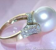 Superb Southsea Pearl Diamond Ring image