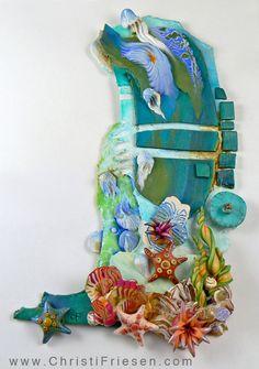 polymer ocean mosaic by Christi Friesen