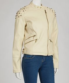 Take a look at this Stone Studded Jacket by Yoki on #zulily today!