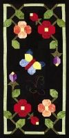 """Butterfly Center Panel from Out Of The Darkness/A New Beginning Block-Of-The-Month by Pam Bono - 18"""" finished"""