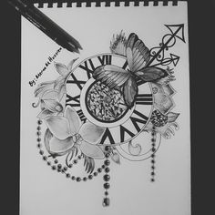 #doodle #zentangle #time #elegant #art ♥