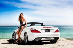 "Behind the Scenes with Mercedes-Benz Presents Designer Vitamin A by Amahlia Stevens and the SL63 AMG in Malibu, California preparing for Mercedes-Benz Fashion Week SWIM. Share a picture of your ""Best Summer"" moment and you could win a 13-month lease on an SLK: http://mbenz.us/bestsummer"