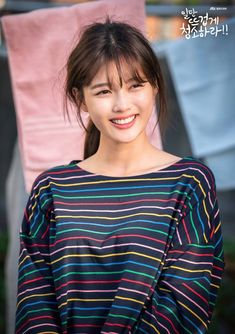 First Kim Yoo-jung stills added for the upcoming Korean drama 'Clean with Passion for Now '. Asian Actors, Korean Actresses, Korean Actors, Kim Joo Jung, Jin Kim, Kim Yoo Jung Fashion, Korean Beauty, Asian Beauty, Easy Casual Hairstyles