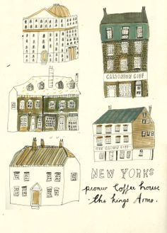 Some old Coffee Houses. - Katt Frank Illustration