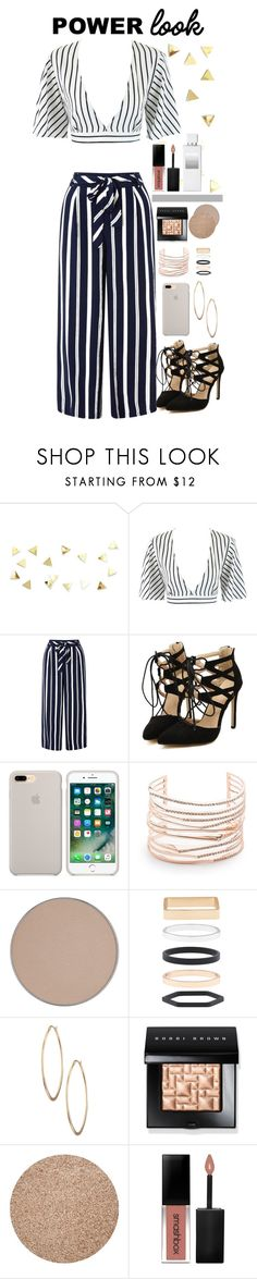 """""""Power Look"""" by biscuitatlas ❤ liked on Polyvore featuring Monsoon, Alexis Bittar, Anastasia Beverly Hills, Accessorize, Lydell NYC, Bobbi Brown Cosmetics, Smashbox, Henri Bendel, stripes and BobbiBrown"""