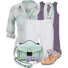 Bermuda Shorts & Plaid Shirt