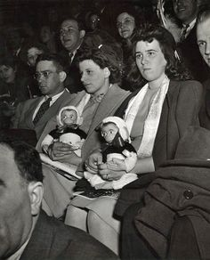 circus audience by weegee, circa 1943