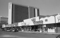 Ballys, towering over Churchill Downs Shopping Center (ca. 1994). Paris Las Vegas is here now.