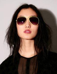 Neon frame aviator sunglasses