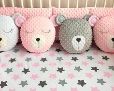 Bear cushion Unicorn cushion star cushion softie toy nursery decor gift for Baby Sewing Projects, Sewing For Kids, Sewing Crafts, Unicorn Cushion, Unicorn Pillow, Cute Pillows, Baby Pillows, Softies, Baby Room Decor