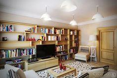 Unusual Home Library Bookshelves With Black Tv Unit Decorative Rug Table Lamp Shades And Sofa Sets