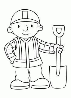 Muitos desenhos de Bob o Construtor para colorir, pintar, imprimir! Moldes e riscos de Bob o Construtor - Espaço Educar desenhos para colorir