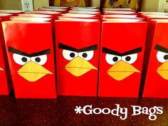 Angry Birds Birthday Party - themed activities, dessert & favors