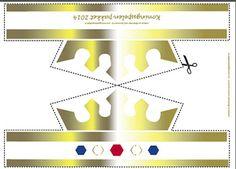 kroon Koningsspelen goud - te gebruiken bij het spel 'Kleed de Koning'