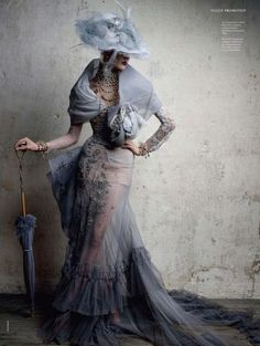 So beautiful! Belle Époque gown and hat