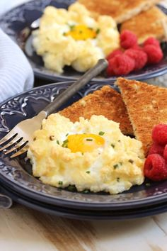 Eggs in a Cloud with Cheddar and Chives   TheSuburbanSoapbox.com