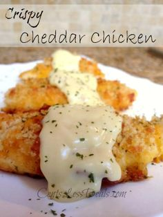 Crispy Cheddar Chicken - It says you can use Cheez-Its, but I seriously want to use the spicy Cheez- Its for some heat http://centslessdeals.com/2013/09/crispy-cheddar-chicken-recipe.html/ <- Recipe