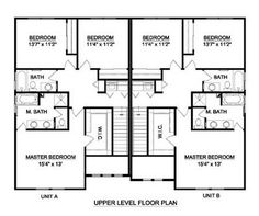 1000 images about duplex house plan on pinterest duplex for Back to back duplex house plans