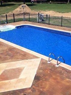 acid stained concrete pool deck | house ideas | pinterest | acid