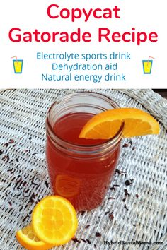 Looking for the best copycat Gatorade recipe? This homemade electrolyte sports drink has a tropical twist for quick rehydration and natural energy. Come make this homemade electrolyte drinks today! Detox Drinks, Healthy Drinks, Homemade Electrolyte Drink, Natural Electrolytes, Natural Energy Drinks, Rehydration, Sports Drink, Real Food Recipes, Drink Recipes
