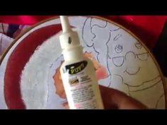 Pintura en tela gorro y barba de santa claus # 2 con cony
