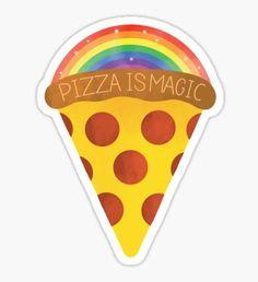 pizza is magic Pegatina