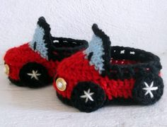 Craft Patterns: Car Baby Boy Booties
