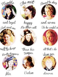 The Six Wives of Henry VIII, with their mottos. Wife - Anne of Cleves - God send me well to keep. Tudor History, European History, Women In History, British History, Los Tudor, Tudor Era, Wives Of Henry Viii, King Henry Viii, Anne Of Cleves