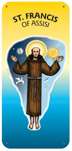 St. Francis of Assisi - 4 October #SaintsDay Display Board 718B