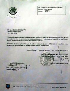 Reconocimiento del Ayuntamiento de Tampico al Grupo Tampico Antiguo