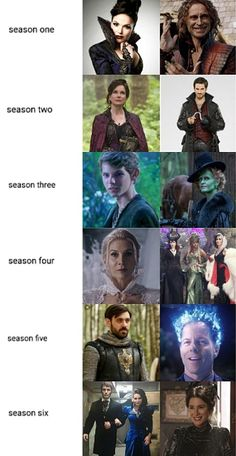 ouat - villains of all seasons Once Upon A Time Peter Pan, Once Upon A Time Funny, Once Up A Time, Time Series, Best Series, Snow And Charming, Disney Movies To Watch, Best Villains, Hook And Emma