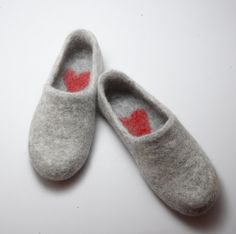 Felted wool clogs - sweet.