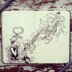 #45 Be my valentine by 365-DaysOfDoodles.deviantart.com on @deviantART #doodle