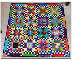 """Quiltville's Quips & Snips!!: Free Pattern! Story-Time Stars..Quilt size: 46"""" X 46""""  Block size: 8"""" This quilt has 16 star blocks, each with a center square cut from a fun novelty fabric.  From Novelty fabrics cut 16 4.5"""" squares."""