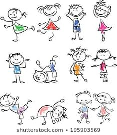 Similar images, stock photos and vectors about Cute happy cartoon kids; - Similar images, stock photos and vectors about Cute happy cartoon kids; Easy Disney Drawings, Disney Character Drawings, Easy Drawings, Simple Drawings For Kids, Easy Cartoon Drawings, Drawing Lessons For Kids, Drawing Tutorials For Kids, Drawing Ideas, Happy Cartoon