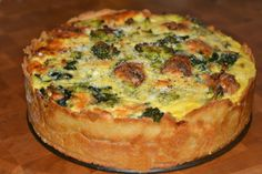Broccoli and Spinach Meatball Pie