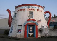 Bobs World Famous Java Jive in Tacoma, WA A coffee shop in the 1920s, this wacky little pot is now a pretty quintessential dive bar, complete with karaoke, live music performances, and a nod of approval from the beloved Seattle altnera-weekly The Stranger.